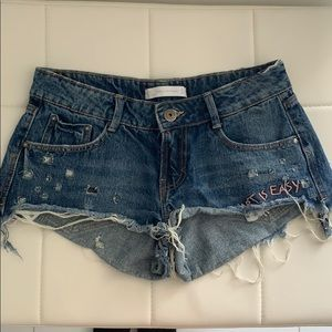 Art is easy denim shorts